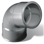 Coude PVC - Femelle / Femelle - 67°30 - Diamètre 100 mm - Nicoll CT66
