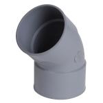 Coude PVC - Femelle / Femelle - 45° - Diamètre 125 mm - Nicoll CX44
