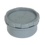 Tampon de visite PVC - Avec bouchon - Mâle / Femelle - Diamètre 40 mm - Nicoll FH