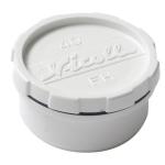 Tampon de visite PVC - Avec bouchon - Mâle / Femelle - Diamètre 40 mm - Nicoll FHB - Blanc