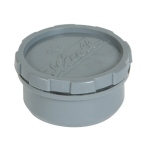 Tampon de visite PVC - Avec bouchon - Mâle / Femelle - Diamètre 63 mm - Nicoll FL