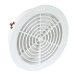Grille ronde intérieure - Avec moustiquaire PVC diamètre 160mm - Nicoll GATM160