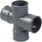 Culotte Double PVC - Femelle / Femelle - 87°30 -  Parallèle - Diamètre 40 mm - RH188