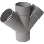 Culotte Double PVC - Femelle / Femelle - 45° - Parallèle - Diamètre 100 mm - Nicoll RT144