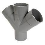 Culotte Double PVC - Mâle / Femelle - 87°30 - Parallèle - Diamètre 100 mm - RT18