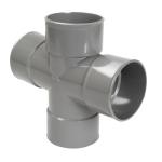 Culotte Double PVC - Femelle / Femelle - 87°30 - Parallèle - Diamètre 100 mm - RT188