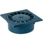 Siphon de cour - 150 x 150 mm - A emboîture incorporée - Sortie verticale - Nicoll SC456 - Gris foncé