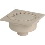 Siphon de Cour - 150 x 150 mm - A emboîture extérieure - Sortie Verticale - Nicoll SC504S - Sable