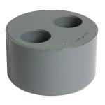 Tampon de réduction - Mâle / Femelle - Double - Diamètre 100 / 40 / 32 mm - Nicoll T43
