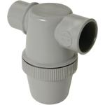 Siphon de lavabo - A coller - Entrée horizontale - Diamètre 32 mm - Nicoll YF1C - Gris