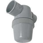 Siphon de lavabo - A coller - Entrée horizontale - Diamètre 40 mm - Nicoll YH1C - Gris