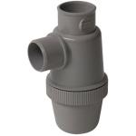 Siphon de lavabo - A coller - Entrée verticale - Diamètre 40 mm - Nicoll YHC - Gris