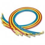 Jeu de 3 flexibles - Avec vanne - 90 cm - R410A - Wigam 06030027