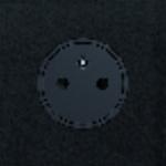 Prise de courant - 2P+T - Série ART - Epure - Noir Mat - Arnould 67831
