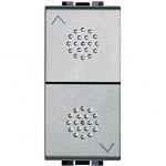 Interrupteur pour commande volets roulants 1 module Bticino Living Light Tech