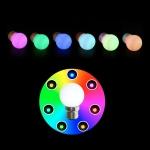 Ampoule à LED - Culot B22 - RGB Synchronisée - 1 Watts - Festilight 65650