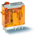 Relais - 2 Contacts - 8A - 24 Volts DC - Indicateur Mécanique - Finder 465290240040