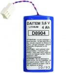 Pile lithium - Alarme Radio - 3.6V / 4AH - Hager BATLI05