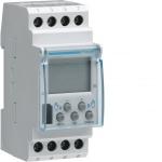 Interrupteur Horaire - Electronique Base - 2 contacts - 7 Jours - 2 Modules - Hager EG203B