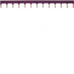 Barre de pontage - 1 Pôle - 10 mm² - 13 modules - Phase - KB163P