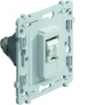 Prise RJ45 simple Cat6 STP 8pts blindés 1P grade3 Hager Kallysta