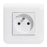 Prise de courant connectée - Lot de 3 - Blanc - Legrand Mosaic 077738