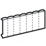 Legrand obturateur 13 modules blanc pour tableau électrique
