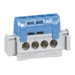 Bornier isolé 4x1.5 à 16 mm² - Bleu Neutre
