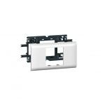 Support 2 modules Mosaic pour goulotte DLP avec couvercle de 65 mm - Legrand 010952