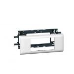 Support 4 modules Mosaic pour goulotte DLP avec couvercle de 65 mm - Legrand 010954