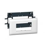 Support 4 modules Mosaic pour goulotte DLP avec couvercle de 85 mm - Legrand 010994