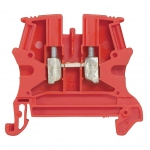 Bloc Viking 3 - 1 jonction - 1 entrée / 1 sortie - 2.5 mm² - Rouge - A vis