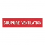 Etiquette - Coupure ventilation - Legrand 038030