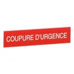 Etiquette - Coupure d'urgence - Legrand 038092