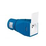 Adaptateur industriel/domestique IP XO avec volet 2P+T 16A 230V
