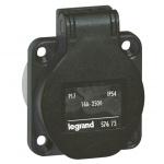 Prise tableau 16 Ampères 2P+T IP54 noir - Legrand 57673