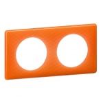 Plaque Legrand Céliane 2 postes Orange 70s