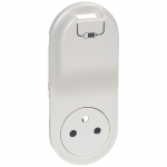 Enjoliveur - Prise de courant 2P+T + USB- Legrand Céliane - Blanc