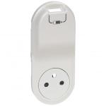 Enjoliveur - Prise de courant 2P+T + USB- Legrand Céliane - Blanc