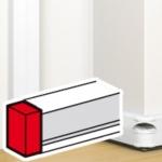 Embout pour moulure - 130 x 50 mm - Blanc - Legrand Mosaic 075613