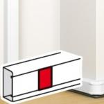 Joint de couvercle pour moulure - Blanc - Legrand Mosaic 075669