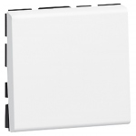 Bouton poussoir 2 modules blanc Legrand Mosaic