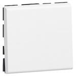 Bouton poussoir inverseur 2 modules blanc Legrand Mosaic