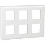Enjoliveur 2X3X2 modules Legrand Mosaic blanc