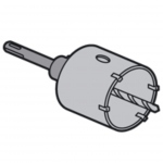 Scie trépan diamètre 68 mm pour matériaux durs Legrand Batibox