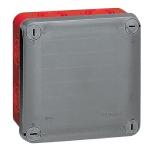 Boite de dérivation étanche 100 x 100 x 55 mm Legrand Plexo entrée défoncable gris rouge