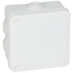 Boite de dérivation étanche 100 x 100 x 55 mm Legrand Plexo blanche