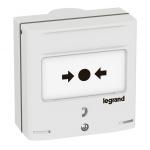 Déclencheur manuel - Blanc - 2 Contacts + LED - Legrand 138074