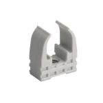 Clips - Mureva Clip - Pour tube diamètre 20 mm - Gris - Schneider electric ENN45120
