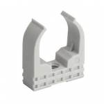 Clips - Mureva Clip - Pour tube diamètre 25 mm - Gris - Schneider electric ENN45125